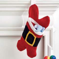 Pet Christmas Stocking Knitting Pattern