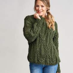 Tweed Cable Jumper