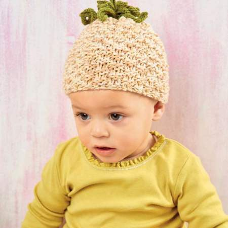 Easy Pineapple Baby Hat Knitting Pattern