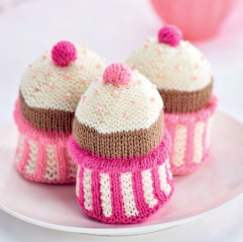 Knit Pink Cupcakes For Breast Cancer Care Knitting Pattern