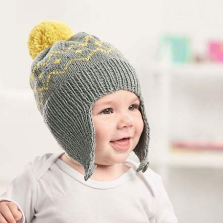 Pom-pom Baby Hat Knitting Pattern