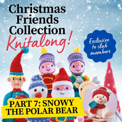 Christmas Friends Knitalong Part 7: Polar Bear Knitting Pattern