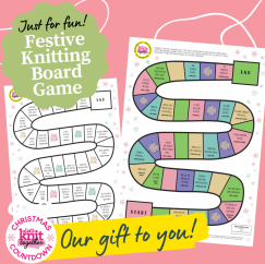 Printable Festive Knitting Board Game Knitting Pattern