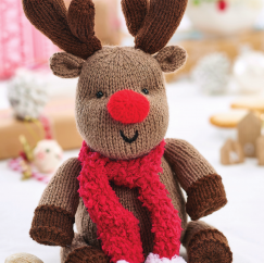 Easy Christmas Reindeer Knitting Pattern