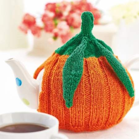 British Pumpkin Teacosy Knitting Pattern