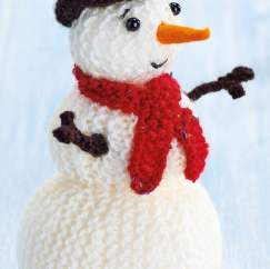 Quick Christmas Decorations: Snowman, robin, pudding, hat and lollipop Knitting Pattern