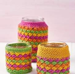 Quick Upcycled Jam Jar Covers Knitting Pattern