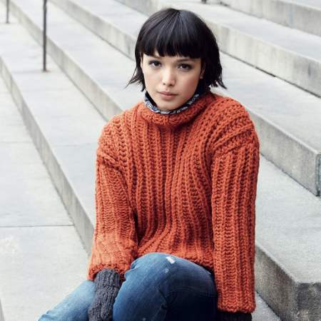 Ribbed Jumper with Matching Mittens Knitting Pattern