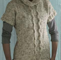 Rollneck Cable Slipover Knitting Pattern