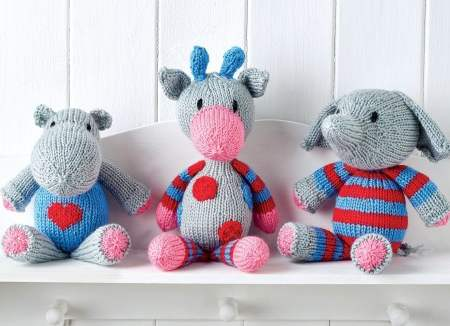 Snuggle Buddies Toy Trio | Knitting Patterns | Let's Knit
