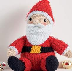 Sparkly Santa Toy Knitting Pattern