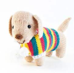 Sweet Sausage Dog Knitting Pattern