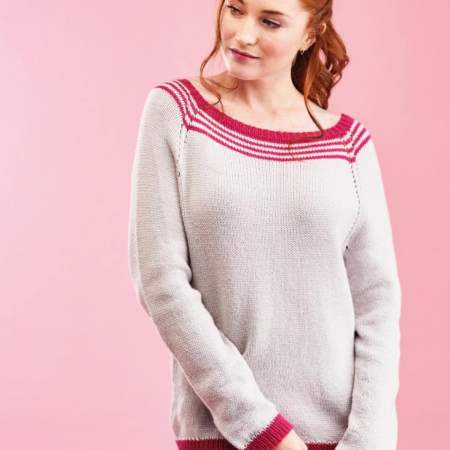 Learn to Knit A Top-Down Sweater Knitting Pattern