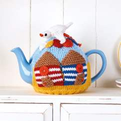 Beach Hut Tea Cosy Knitting Pattern