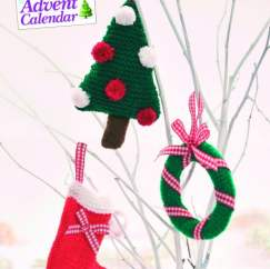 Quick Knit Christmas Card Decorations Knitting Pattern