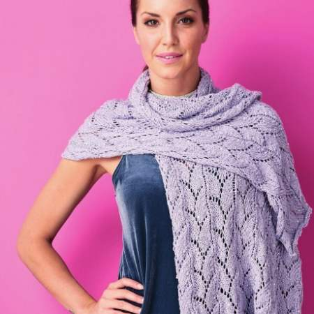 Sequin Lace Wrap Knitting Pattern