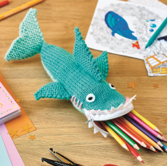 Shark Pencil Case Knitting Pattern