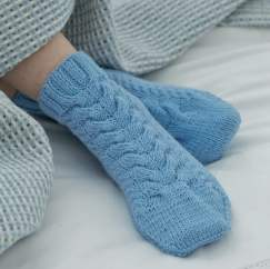 Luxury Cable Bed Socks Knitting Pattern