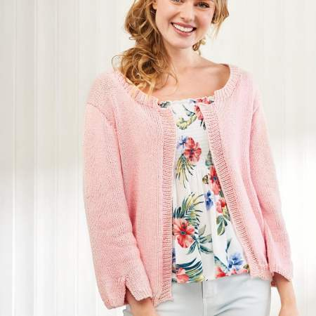 Simple Cotton Cardigan Knitting Pattern