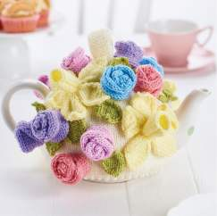 Simple Flower Teacosy Knitting Pattern