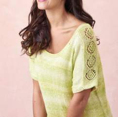 Simple Lacy T-shirt Knitting Pattern