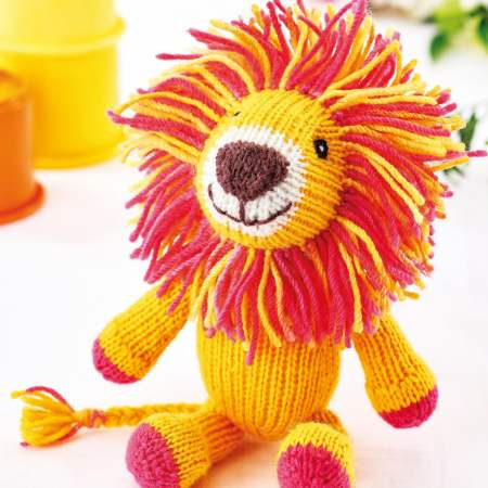 Simple Lion Toy Knitting Pattern