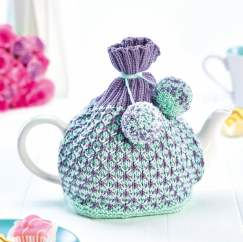 Slip Stitch Teacosy Knitting Pattern