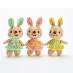Sparkly Bunny Trio Knitting Pattern