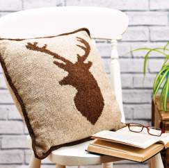 Stag Cushion Chart Knitting Pattern