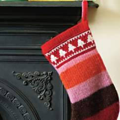 Felted Stocking For The Big Christmas Cast On Knitting Pattern
