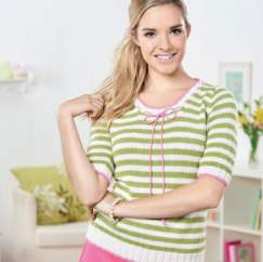 Striped Top Knitting Pattern