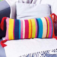 Striped Sofa Cushion Knitting Pattern