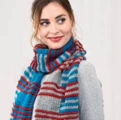 Stripe Scarf Step-by-Step Pattern