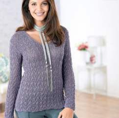 Sparkly Sweater Knitting Pattern