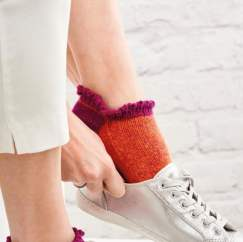 Easy Frill Trainer Socks Knitting Pattern