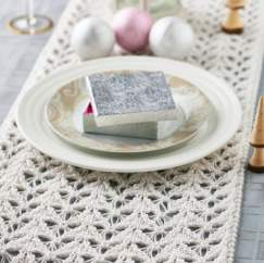 Sparkly Festive Table Runner Knitting Pattern