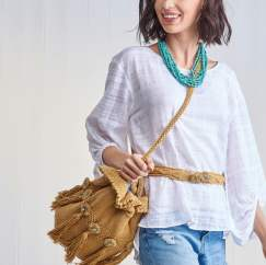 Tassel Bag and Belt Set