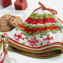 Christmas kitchen cosies Knitting Pattern