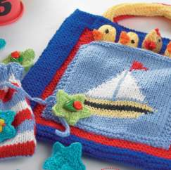 Travel Bag & Games Set Knitting Pattern
