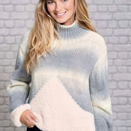 Faux Fur Jumper Knitting Pattern