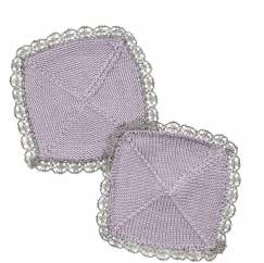 Trimmed Coasters Knitting Pattern