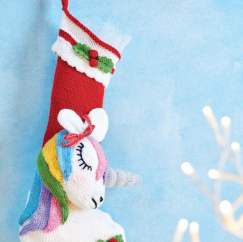 Unicorn Christmas Stocking Knitting Pattern
