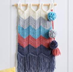 Chevron Wall Hanging Knitting Pattern