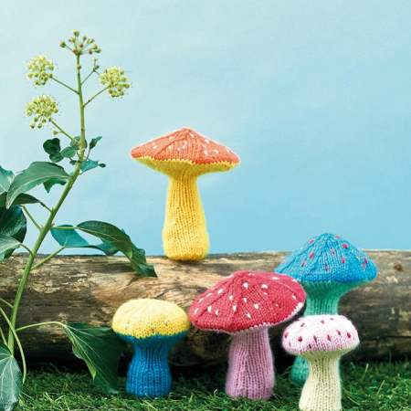 Winter Toadstools Knitting Pattern