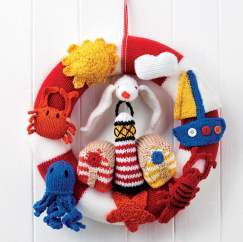 Easy Nautical Wreath Knitting Pattern