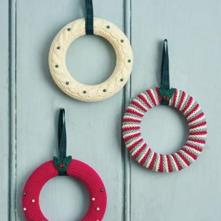 Mini Wreaths For The Big Christmas Cast On Knitting Pattern