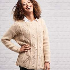 Zig-zag Tunic Knitting Pattern