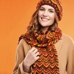 Zigzag Hat and Scarf Knitting Pattern