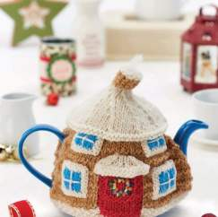 Cute & Christmassy Cotswold Cottage Teacosy Knitting Pattern