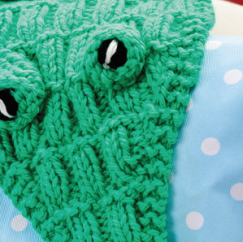 Crocodile Scarf Knitting Pattern
